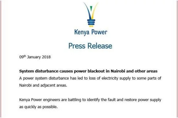 Power blackout strikes most parts of the country