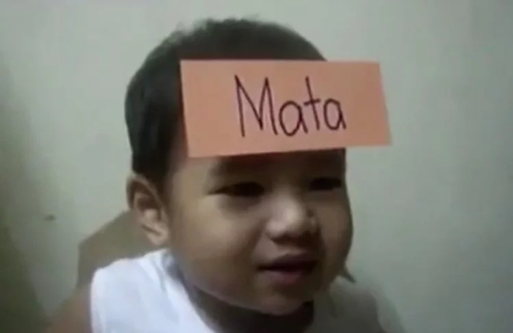 Baby left netizens in shock after video of himself playing Pinoy henyo went viral
