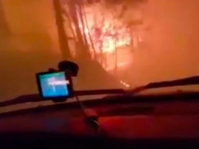 Two Guys Capture Horrifying Footage Of Them Escaping Tennesee Wildfires