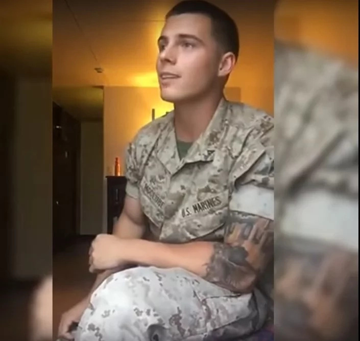 Handsome marine officer shows off epic singing talent