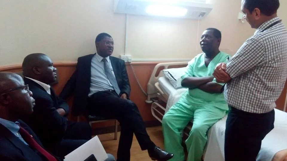 Wetangula visits Ababu Namwamba's rival in hospital