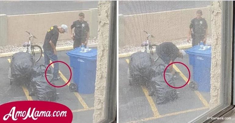 Policía vio a un hombre cerca de la casa. De repente, hizo que el pobre hombre se quitara los zapatos
