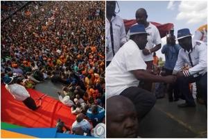 Raila Odinga alazimika kukatiza hotuba yake Siaya baada ya ghasia kuzuka