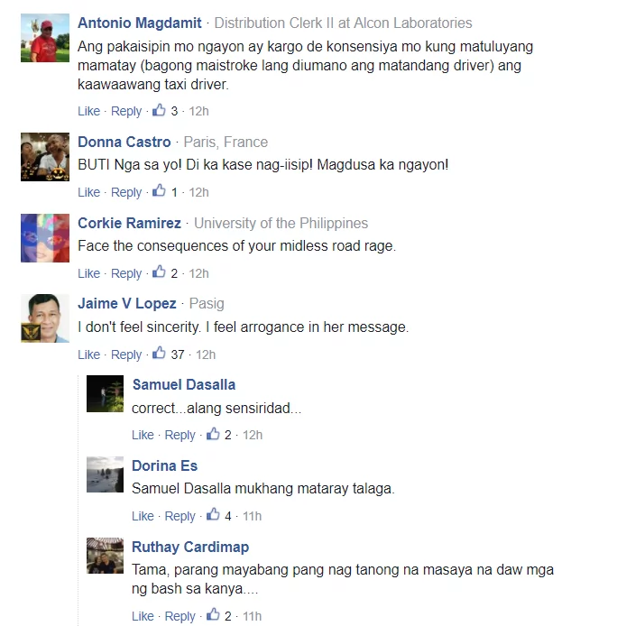Sincere nga ba? Arrogant Lady who slapped taxi driver issues public apology