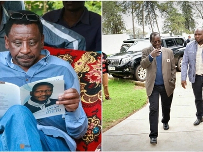 Confusion as James Orengo leaves funeral with Kipchumba Murkomen's mobile phone