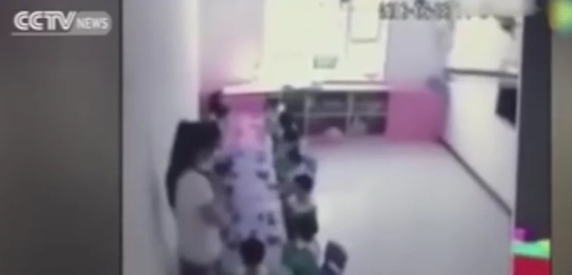 Teachers serve children fruits only for show