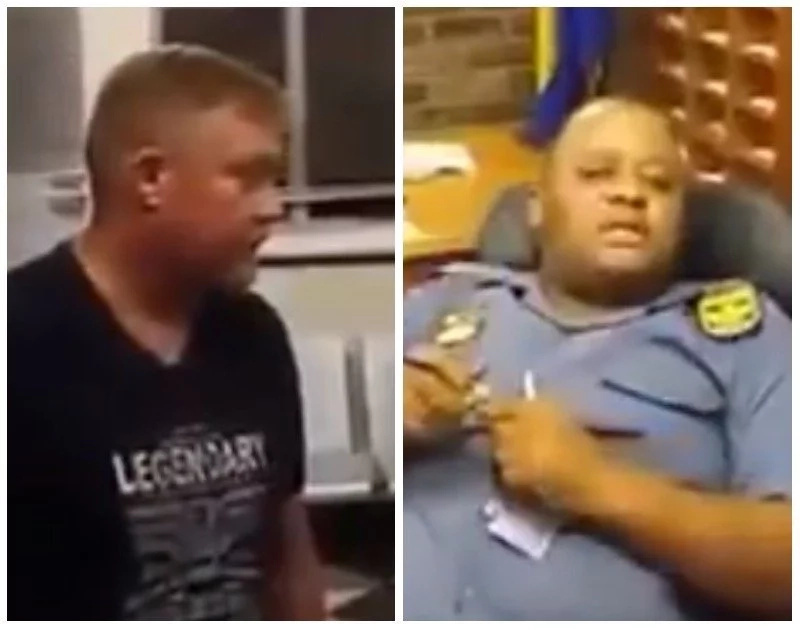 Police officer accused of racism after he refuses to help a white man