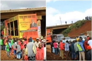 Campaign Truck belonging to a rich Juibilee politician KILLS a second person(Photos)