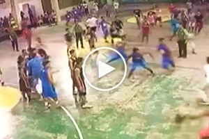 Pinoy cop knocks out teen basketball player during wild brawl in Laguna