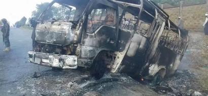 Owner of Matatu burnt during anti-IEBC protest sues Raila