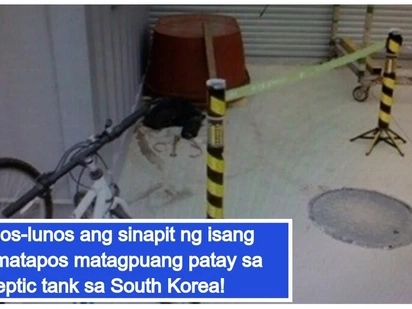 A lifeless body of an OFW was discovered inside a septic tank in South Korea