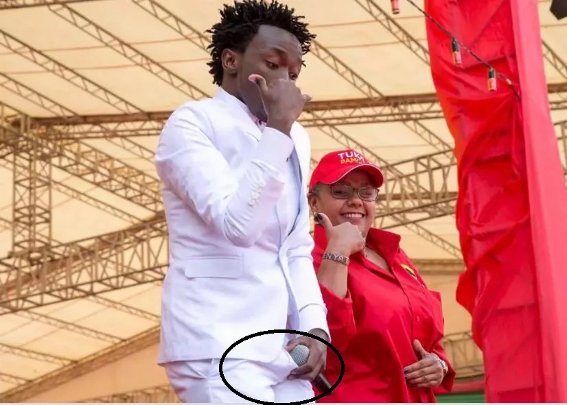 Was singer Bahati turned on when performing at Kasarani?
