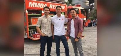 May tatlong pogi akong nakita: TV reporters united