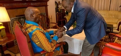 Uhuru Kenyatta visits his political mentor and ex-president amid political tension in the country