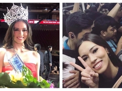 Walang arteng beauty queen! Miss World PH 2017 Laura Lehmann wows netizens with photo of her epic MRT ride