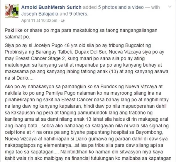 This lady with stage 2 cancer is being abused by people in their province. Let's help her!