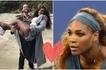Tazama Serena Williams akicheza tennis, hutaamini yuko karibu kujifungua (video)