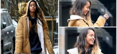 Spoiled kid? Malia Obama turns heads as she is spotted wearing fashionable $798 coat (photos)