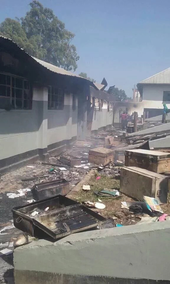 Students in two separate schools set property on fire