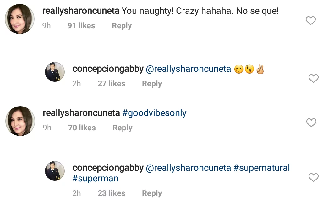 Feeling teenager daw! Netizens react on Sharon Cuneta and Gabby Concepcion's exchange posts on social media