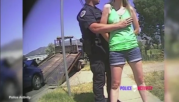 Cop Gropes Young Girl During Search After Minor Car Crash (Video)