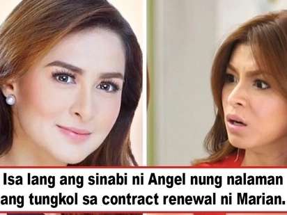 Isa lang ang masasabi niya! Angel Locsin speaks frankly about Marian Rivera's renewal of contract with GMA