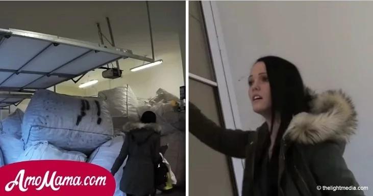 Esposa encontró unas bolsas extrañas ocupando todo el garaje cuando llegó a casa, su hijo y esposo estaban a la vuelta de la esquina...