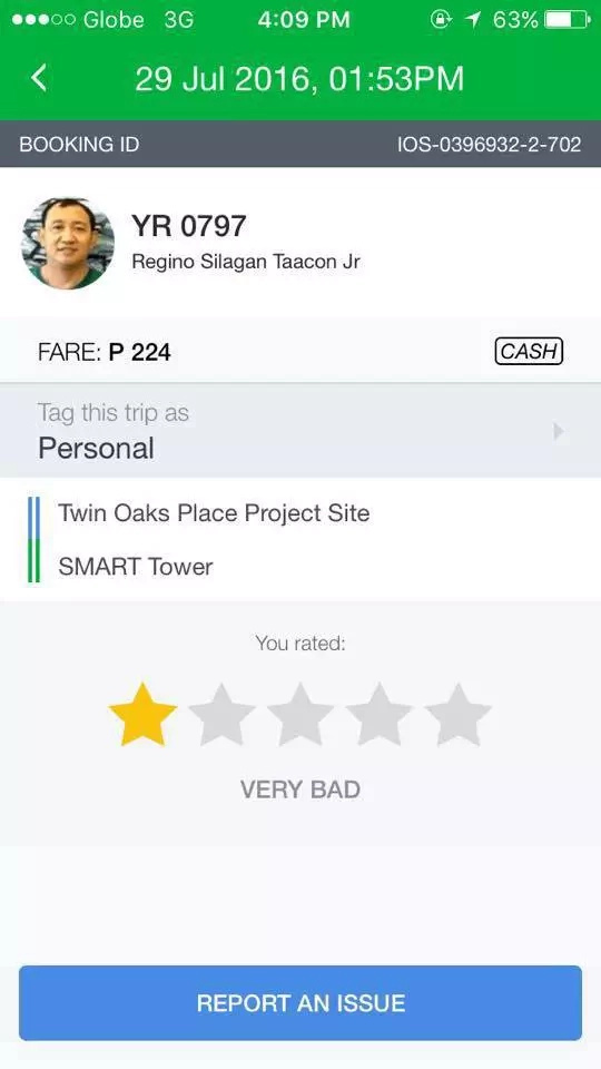 Scary GrabCar experience, passenger's life threatened