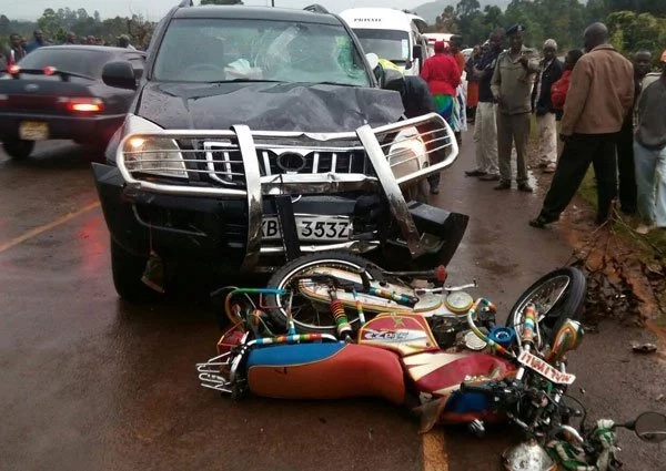 Mp rushes two people to hospital after killing one in accident