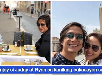 """Ang sweet talaga! Ryan Agoncillo and Judy Ann Santos enjoy their """"bonggang"""" romantic getaway in Rome, Italy"""