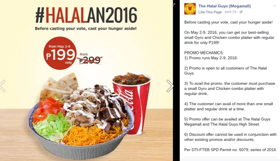 10 Sweet deals on PH election day