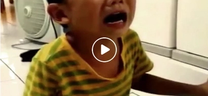 Sobrang cute! Crying toddler devastated after mother