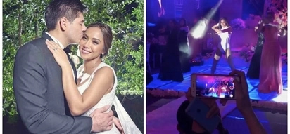 Nganga ang groom! Rochelle Pangilinan reunites with Sexbomb Dancers for her epic wedding surprise to Arthur Solinap