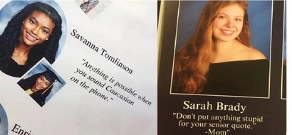 Look at these funny senior quotes which didn't look good for a year book