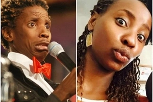 Does comedian Eric Omondi resemble Uhuru's daughter-in-law? Let's examine it here