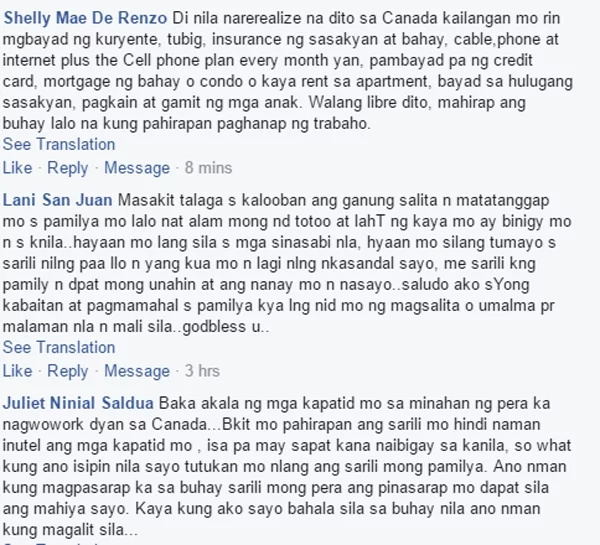 Netizens comment this news on KAMI page