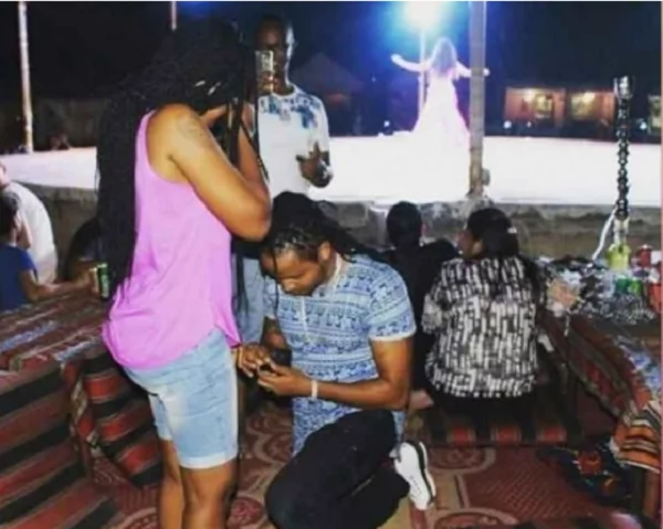 Marriage at last for DJ Kalonje as he proposes to longtime girlfriend in Dubai