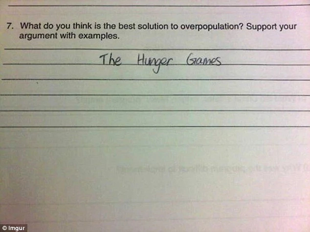 Children write hilarious answers on exams