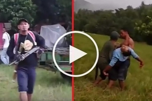 Binaril in public! Violent security guard shoots dead defenseless farmer leader in Palawan