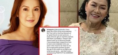 Defender ako ngayon! Kris Aquino defends long-time nemesis Lolit Solis and it's making netizens say, 'Duh?'