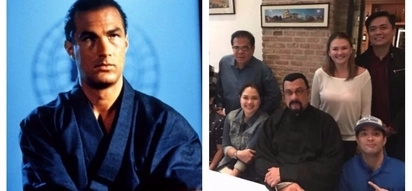 Judy Ann Santos, Angelica Panganiban & Joross Gamboa meet Hollywood actor Steven Seagal at a restaurant in Metro Manila