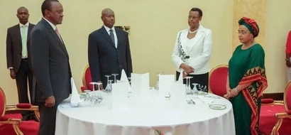 See 5 Great Ideas Uhuru And Museveni Shared Over Dinner In Kampala