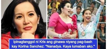 """Kris Aquino, matapang na dinepensahan ang kaniyang pagbanat laban kay Korina Sanchez: """"I'm ready to go to hell"""""""