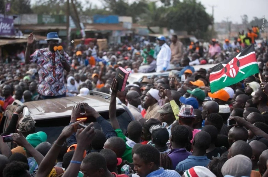 Raila and Kalonzo's bodyguards withdrawn hours to NASA demos