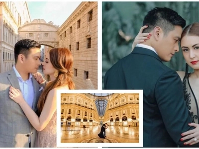 Ang gaganda! Alfred Vargas and Yasmine Espiritu's romantic pre-nuptial photos in Italy.