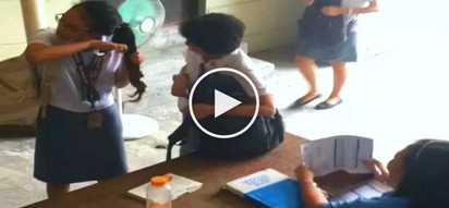Daring Pinay college student cuts her own dyed hair to avoid violation penalty from school staff