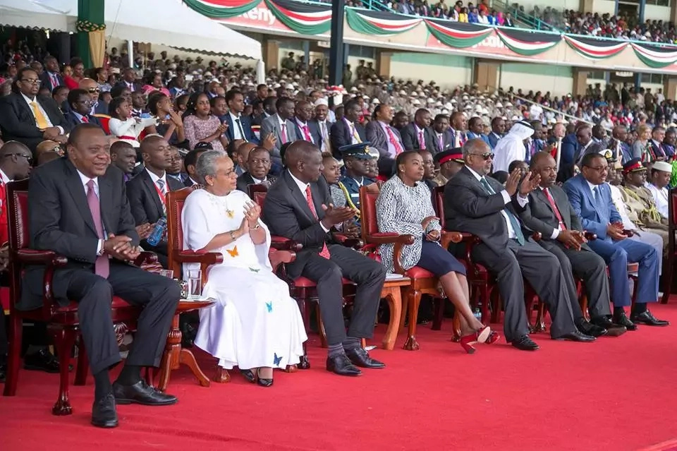 Uhuru showers praises on DP Ruto's wife after he was sworn in