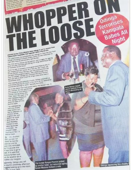 Raila enjoys partying in Uganda