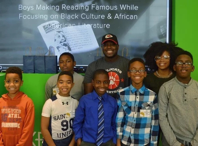 BOOKS'N'BROS… 11-year old created READING CLUB for black boys with GREAT SUCCESS