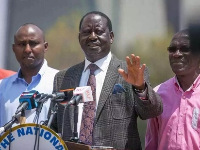 Raila speaks after reports that his security was withdrawn